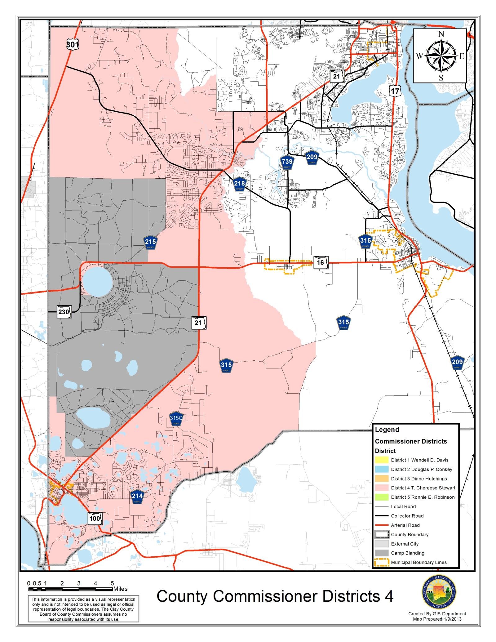 District Voting Maps Clay County FL - County maps florida